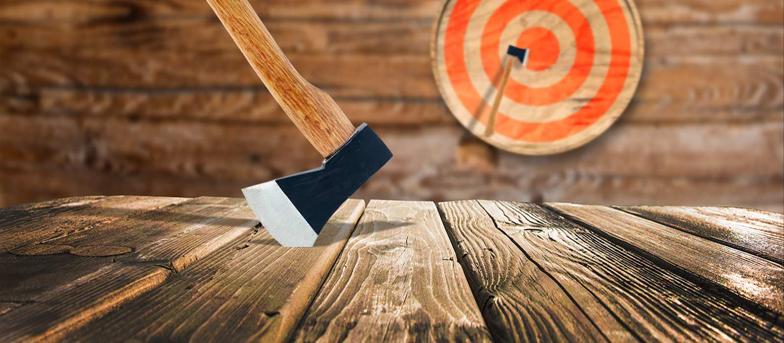 Axe Throwing Columbus with Dueling Axes
