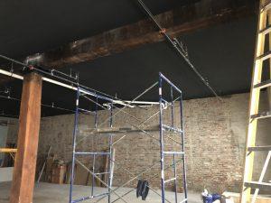 ceiling painted black