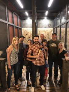 Columbus axe throwing group