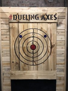 dueling axes target