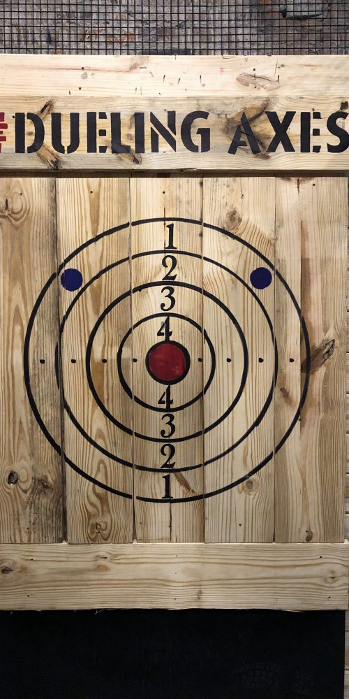 axe throwing target points