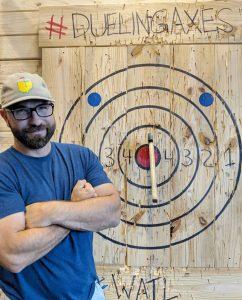 Ax throwing bullseye