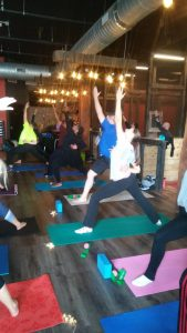 Yoga and Axes Warrior 1