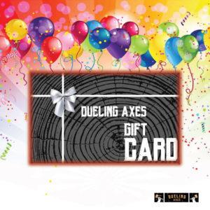 axe throwing gift card