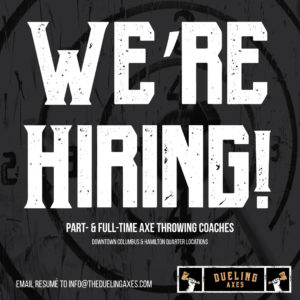 hiring axe throwing coach
